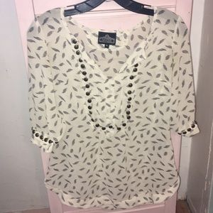 ANGIE feather blouse